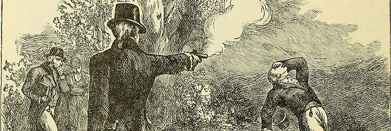 Hamilton - Burr es un relato de ficción histórica sobre el duelo que enfrentó a ambos políticos el 11 de julio de 1804.