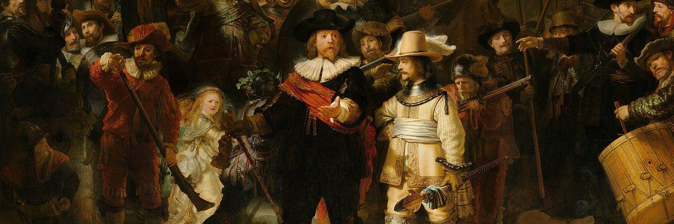 La ronda de noche es un relato escrito por Miguel Rodríguez Echeandía sobre el ataque que sufrió el cuadro de Rembrandt en el Rijksmuseum de Amsterdam en 1975