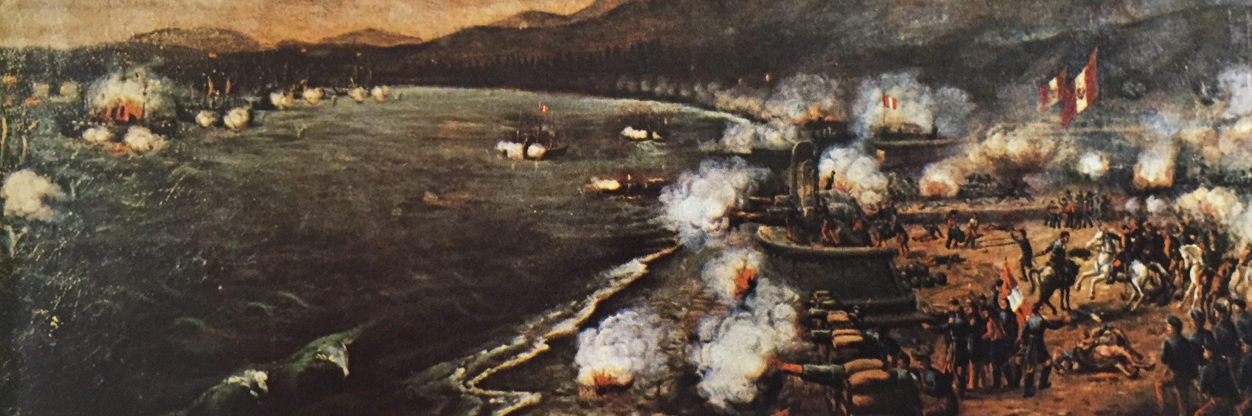 Ocho palabras es un relato sobre la famosa frase del capitán Victoriano Sánchez Barcáiztegui en la batalla del Callao.